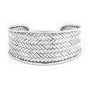 Karma Silver Cuff by Nusa (Front View)