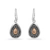 Pelung Silver & Gold Earrings by Nusa (Front View)