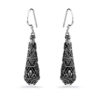 Ubud Silver Earrings by Nusa (Front View)