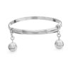 Wayan Silver Baby Anklet by Nusa (Front View)